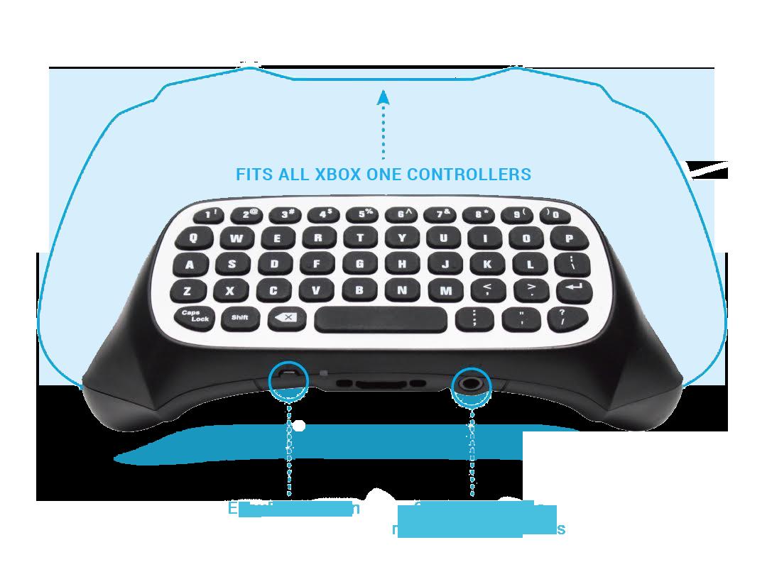Xbox One 2 4G Mini Wireless Chatpad | GamersDigital